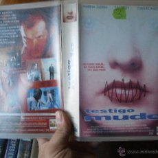 Cine: TESTIGO MUDO-VHS(COMPRA MINIMA 6 EURO--). Lote 47859284