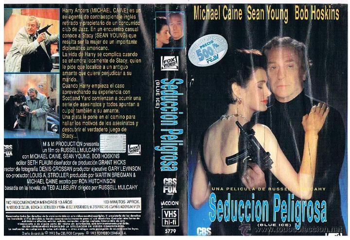 VHS SEDUCCIÓN PELIGROSA - MICHAEL CAINE - SEAN YOUNG (Cine - Películas - VHS)