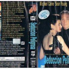 Cine: VHS SEDUCCIÓN PELIGROSA - MICHAEL CAINE - SEAN YOUNG. Lote 47958365
