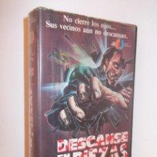 Cine: DESCANSE EN PIEZAS VHS - SLASHER SOBRENATURAL OCHENTERO DE ESPAÑA-EEUU ¡¡REBAJADO 25%!!. Lote 48569333