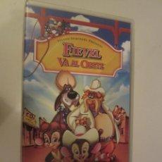 Cine: VHS FIEVEL VA AL OESTE. Lote 48608217