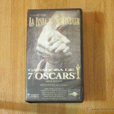 Cine: PELICULA LA LISTA DE SCHLINDER EN VHS. Lote 48945189