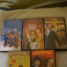 Cine: 5 VHS DE LOS HERMANOS MARX . Lote 48958170