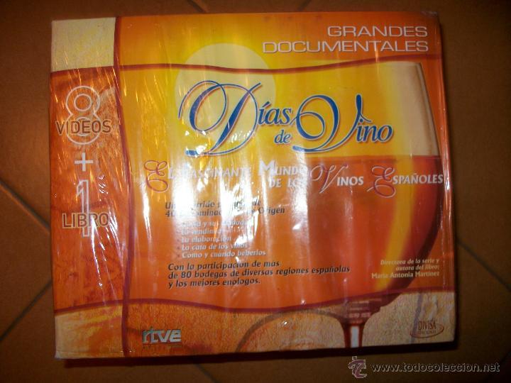 VHS - DIAS DE VINO - GRANDES DOCUMENTALES - 8 VHS CON LIBRO - PRECINTADO (Cine - Películas - VHS)