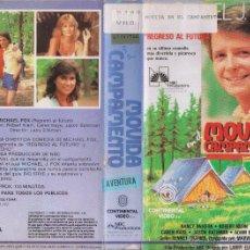 Cine: VHS\. MOVIDA EN EL CAMPAMENTO (MICHAEL J FOX). Lote 49049700