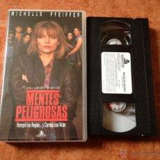 Cine: MENTES PELIGROSAS VHS. Lote 49072003