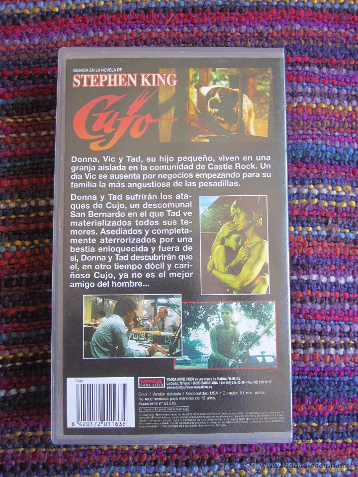 CUJO - STEPHEN KING - MANGA HOME VIDEO VHS