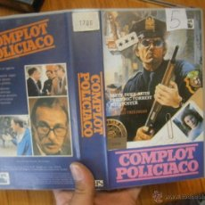 Cine: COMPLOT POLICIACO-VHS. Lote 49454219