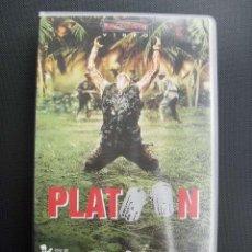 Cine: PLATOON. OLIVER STONE, 1986. VHS.. Lote 49480846