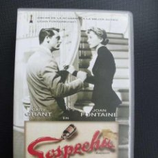 Cine: SOSPECHA. ALFRED HITCHCOCK. VHS.. Lote 49482135