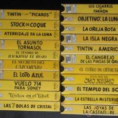 Cine: LOTE DE 21 VIDEOS VHS DE TINTIN, DIARIO 16 VALENCIA,VER FOTOS. Lote 49632120