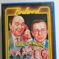 Cine: RÍASE CON NOSOTROS VHS ¿ PELÍCULA - OBRA DE TEATRO ?- ANTONIO OZORES JUANITO NAVARRO - HUMOR COMEDIA. Lote 49701988