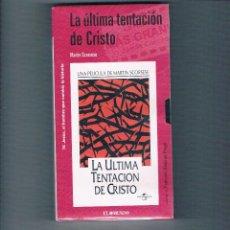 Cine: LA ÚLTIMA TENTACIÓN DE CRISTO VHS MARTIN SCORSESE EL MUNDO 2001 NUEVO PRECINTADO RELIGIÓN CINE. Lote 49998367