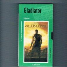 Cine: GLADIATOR VHS RIDLEY SCOTT EL MUNDO 2001 CINE AVENTURAS. Lote 49998496