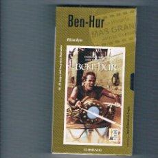 Cine: BEN HUR VHS WILLIAM WYLER EL MUNDO 2001 NUEVO PRECINTADO CINE AVENTURAS. Lote 49998548