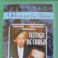 Cine: PELICULA VHS TESTIGO DE CARGO...SANNA. Lote 50017776