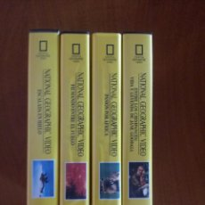 Cine: NATIONAL GEOGRAPHIC VIDEOS Nº 1, 2, 3, 8 (VHS). Lote 50096090