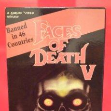 Cine: FACES OF DEATH V - ROSTROS DE MUERTE (VERSIÓN USA). Lote 50178157