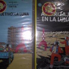 Cine: VIDEOS VHS DE TINTÍN. 'OBJETIVO LA LUNA Y ATERRIZAJE EN LA LUNA'. NUEVOS PRECINTADOS.. Lote 50273668