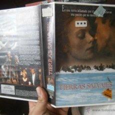 Cine: TIERRAS SALVAJES-VHS. Lote 50456687