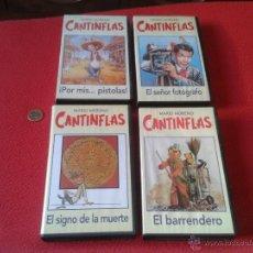Cine: LOTE DE 4 PELICULAS VHS CINTAS DE VIDEO MARIO MORENO CANTINFLAS RBA EDITORES AÑOS 90 EL BARRENDERO... Lote 50635006