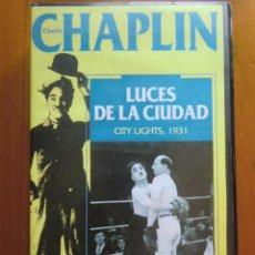 Cine: VHS LUCES DE LA CIUDAD (1931) DE CHARLES CHAPLIN. COMO NUEVA. Lote 51027313