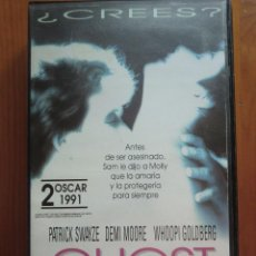 Cine: VHS GHOST, MÁS ALLÁ DEL AMOR (1990) DE JERRY ZUCKER. CON PATRICK SWAYZE Y DEMI MOORE.. Lote 51029121