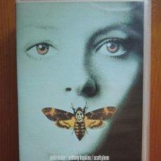 Cine: VHS EL SILENCIO DE LOS CORDEROS (1991) DE JONATHAN DEMME. CON JODIE FOSTER Y ANTHONY HOPKINS. NUEVA. Lote 51029721