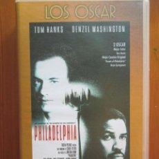 Cine: VHS PHILADELPHIA (1993) DE JONATHAN DEMME. CON TOM HANKS Y DENZEL WASHINGTON. ¡NUEVA!. Lote 51030395