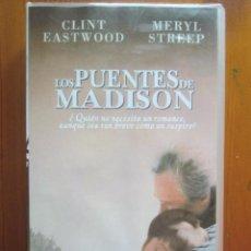 Cine: VHS LOS PUENTES DE MADISON (1995) DE CLINT EASTWOOD. CON MERYL STREEP. ¡NUEVA!. Lote 51030654