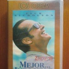 Cine: VHS MEJOR IMPOSIBLE (1.997) DE JAMES L. BROOKS. CON JACK NICHOLSON. ¡NUEVA!. Lote 51030838
