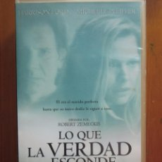 Cine: VHS LO QUE LA VERDAD ESCONDE (2.000) DE ROBERT ZEMECKIS. CON HARRISON FORD Y MICHELLE PFEIFFER. Lote 51031022