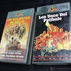 Cine: VHS --- PACK LOS DOCE DEL PATIBULO + LOS VIOLENTOS DE KELLY --- . Lote 51207008