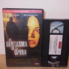 Cine: EL FANTASMA DE LA OPERA VHS - VERSION DARIO ARGENTO CON ASIA ARGENTO Y JULIAN SANDS ¡¡OPORTUNIDAD!!. Lote 51483561