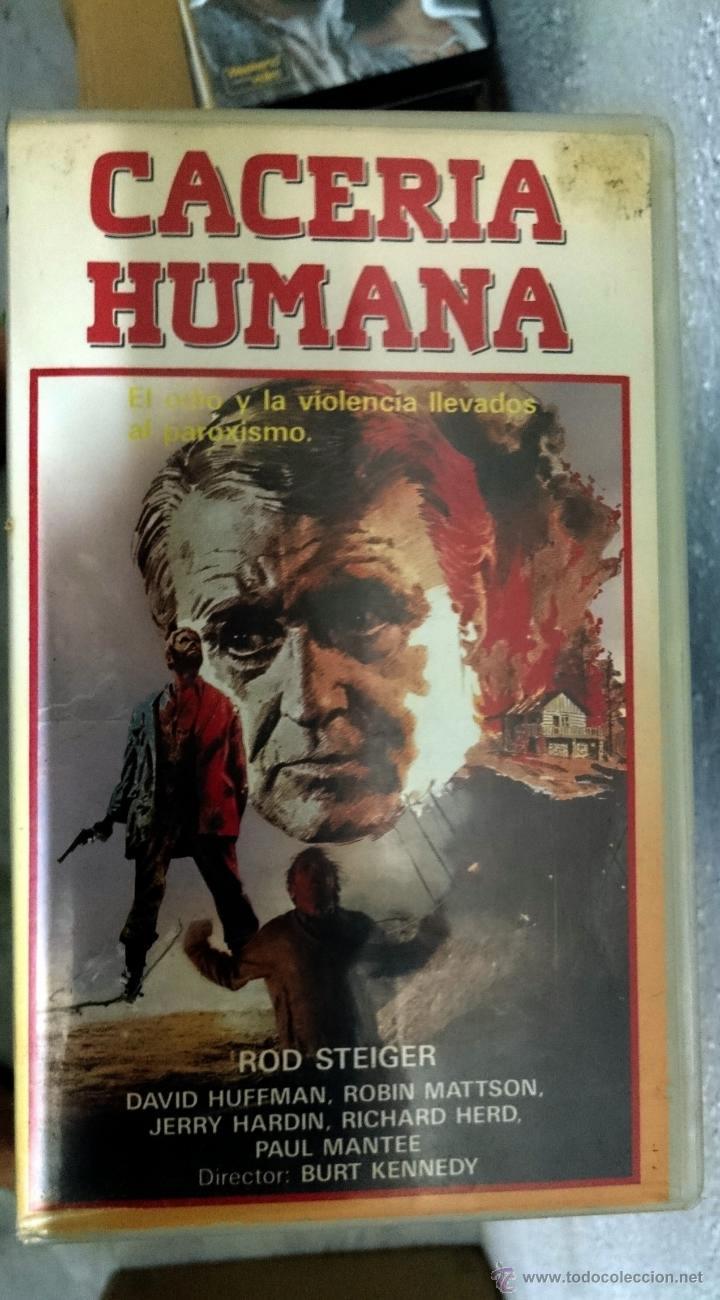 CACERIA HUMANA - ROD STEIGER / DAVID HUFFMAN (Cine - Películas - VHS)