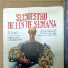 Cine: SECUESTRO DE FIN DE SEMANA - JASON WILLIAMS / KRISTINE DEBELL. Lote 51499770