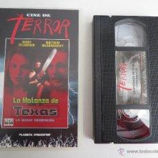 Cine: VHS LA MATANZA DE TEXAS LA NUEVA GENERACION COLECCION CINE DE TERROR. Lote 51578538