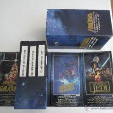 Cine: VHS PACK STAR WARS 1984 LA TRILOGIA CBS FOX VIDEO. Lote 51578747