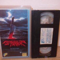 Cine: NOCHE EN EL TREN DEL TERROR VHS - RARO CLASICO DE TERROR PARANORMAL OCHENTERO ¡¡REBAJADO UN 40%!!. Lote 41238209