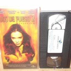 Cine: OJOS DE FUEGO 2 VHS - SECUELA DEL CLASICO DE STEPHEN KING EN CINTA NUEVA USADA 1 VEZ ¡OPORTUNIDAD!. Lote 51717818