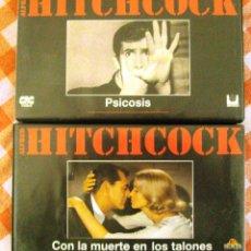 Cine: VIDEO VHS ALFRED HITCHCOCK PSICOSIS Y CON LA MUERTO EN LOS TALONES. Lote 51723520