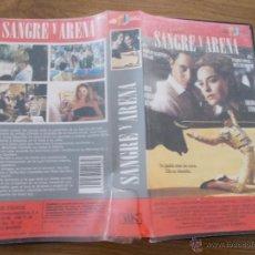 Cine: SANGRE Y ARENA VHS. Lote 66880698