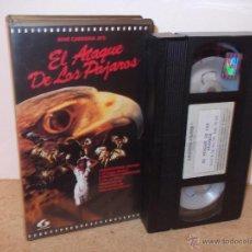 Cine: EL ATAQUE DE LOS PAJAROS VHS - SERIE B OCHENTERO UNICO EN TODOCOLECCION ¡CINTA NUEVA USADA UNA VEZ!. Lote 52374478