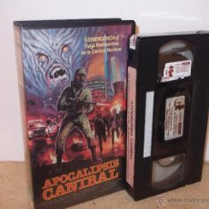 Cine: APOCALIPSIS CANIBAL VHS - MITICO TITULO ZOMBIE DEL TERROR ITALIANO OCHENTERO ¡¡REBAJADO 20%!!. Lote 42375105