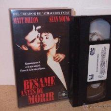 Cine: BESAME ANTES DE MORIR VHS - THRILLER CLASICO CON ASESINO Y UN GRAN REPARTO ¡¡EN CINTA NUEVA!!. Lote 52418146