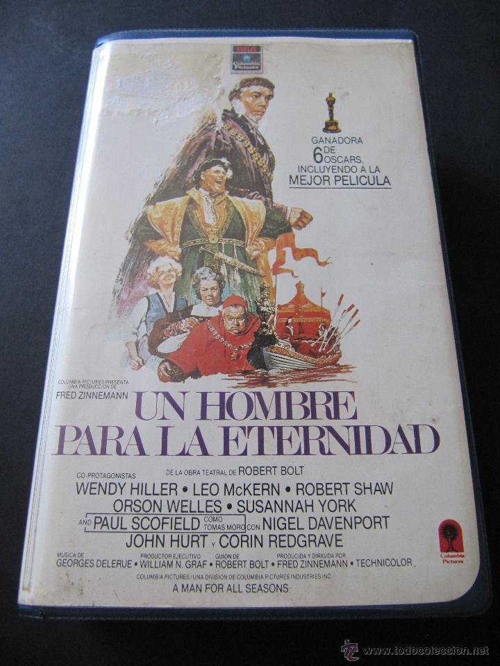 VHS UN HOMBRE PARA LA ETERNIDAD. PRIMERA EDICION EN VHS. ORSON WELLES. RCA COLUMBIA. CAJA GRANDE (Cine - Películas - VHS)