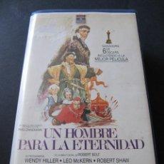 Cine: VHS UN HOMBRE PARA LA ETERNIDAD. PRIMERA EDICION EN VHS. ORSON WELLES. RCA COLUMBIA. CAJA GRANDE. Lote 52655434
