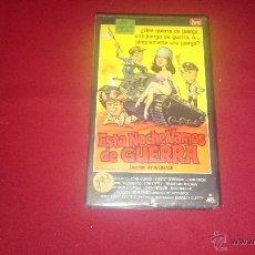 Cine: ESTA NOCHE VAMOS A LA GUERRA - VHS. Lote 52989395