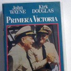 Cine: PRIMERA VICTORIA PELÍCULA BÉLICA II GUERRA MUNDIAL JOHN WAYNE KIRK DOUGLAS PREMINGER HENRY FONDA VHS. Lote 53008195
