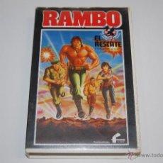 Cine: PELICULA VHS DIBUJOS ANIMADOS RAMBO EL RESCATE DESCATALOGADA. Lote 54032769